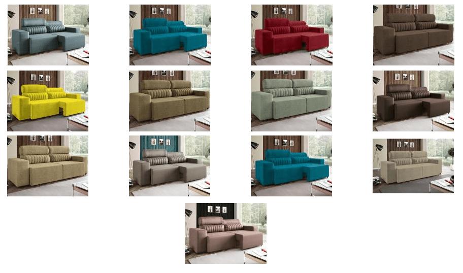 b6b4535bc5b Sofá Retrátil e Reclinável 4 Lugares – Revestimento Suede Elite Style  Linoforte