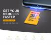 Cartão de Memoria 128GB Kodak High Speed U3 A1 V30 Micro SD Card TF Card Support 4K UHD Video Recording Continuous Shooting 100Mb/s Reading Speed Memory Card