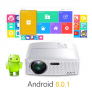 Projetor VIVIBRIGHT 1800 Lumens LED Android Bluetooth WIFI Support 1080p White GP80UP