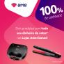 Sanduicheira Grill Ultra ou Prancha Mondial com 100% de cashback pagando com Ame Digital nas Lojas Americanas