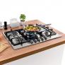 Cooktop 5 bocas Brastemp Gourmand Inox com duplachama e trempe com ferro fundido – BDK75DR – 220V