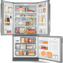 Geladeira Brastemp Frost Free Side Inverse 540 litros cor Inox com Ice Maker – BRO80AK