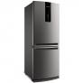 Geladeira Brastemp Frost Free Inverse 443 litros cor Inox com Turbo Ice – BRE57AK
