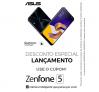 Cupom com 10% de desconto nos Zenfone 5 64GB ou Zenfone 5 Selfie
