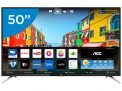 "Smart TV LED 50"" AOC 4K/Ultra HD LE50U7970S – Conversor Digital Wi-Fi 4 HDMI 2 USB"