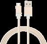 Cabo Micro USB Nylon Reforçado 1,5 MT MIC15G Geonav Dourado