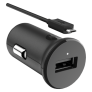 Carregador Veicular Motorola Turbopower Preto, 15W, Micro USB, 2A