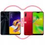 ZenFone 5Z 8GB/256GB Preto + ZenFone Max Shot 4GB/64GB Vermelho