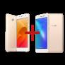 Zenfone Selfie 2GB/16GB Dourado + Zenfone Live 2GB/32GB Dourado