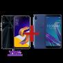 ZenFone 5 4GB/128GB Vivo Desbloqueado Preto + ZenFone Max Pro (M1) 3GB/32GB Azul