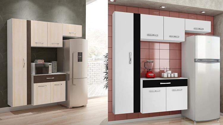 Armario De Geladeira Vivace : Cozinha compacta cbm karen pe?as paneleiro a?reo