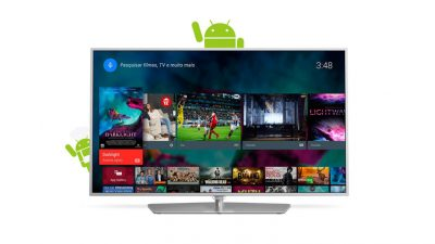 "18c40aa01aa Smart TV LED Android 55"" Philips 55PUG6700 78 Ultra HD 4K com Conversor  Digital 3 HDMI 3 USB Wi-Fi 120Hz Dual Core"
