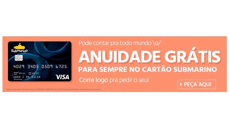 e7e844c4c Cartão Submarino bandeira VISA - Anuidade Grátis Para Sempre - Ofertas 24  Horas - Cupom de Desconto + Ofertas 24 horas por dia!