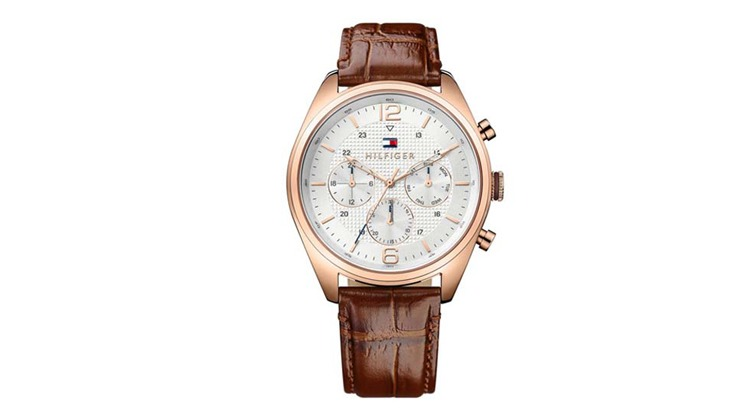 58cd1791e23 Relógio Tommy Hilfiger Masculino Couro Marrom - 1791183 - Ofertas 24 ...